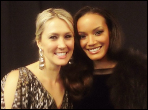 Shannon Harms and Selita Ebanks at Badgley Mischka