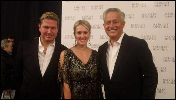 Shannon Harms with Mark Badgley and James Mischka back stage