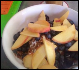 Greek Yogurt with granola and fruit