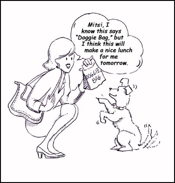 Doggie Bag Cartoon in 465 Easy Eating Tips