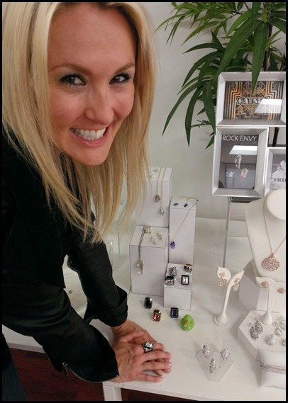 Shannon Truax in the GLITTERRINGS showroom