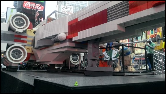 Lego X Wing in Times Square