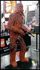 Lego Star Wars in Times Square Chewy