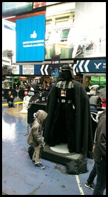 Lego Star Wars in Times Square Darth