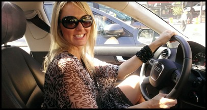 Shannon in the Audi