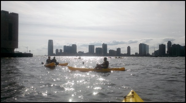 Kayaking on The Hudson River in New York City
