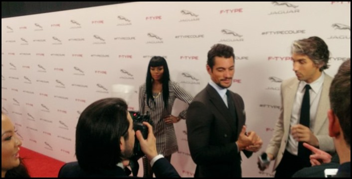 David Gandy at Jag F Type Coupe Unveiling