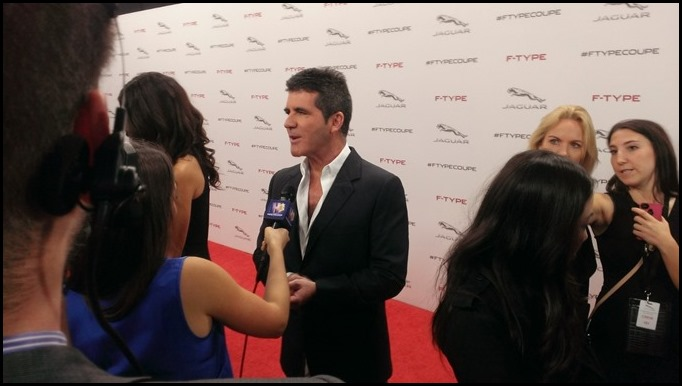 Simon Cowell at Jag F Type Coupe Unveiling