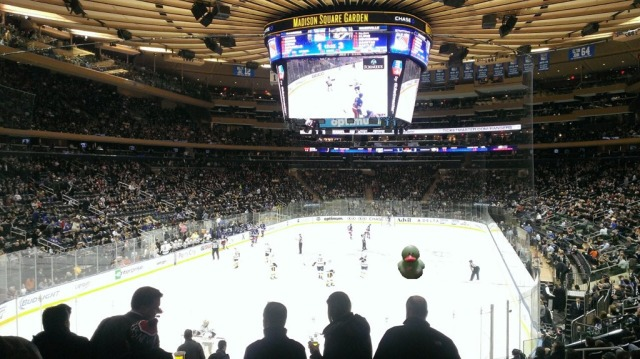 My first Rangers game at MSG