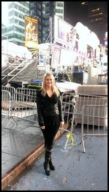 Shannon Truax in Times Square