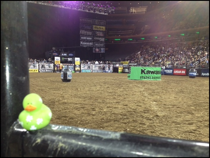 Lucky Duck attends Monster Buck Off at MSG