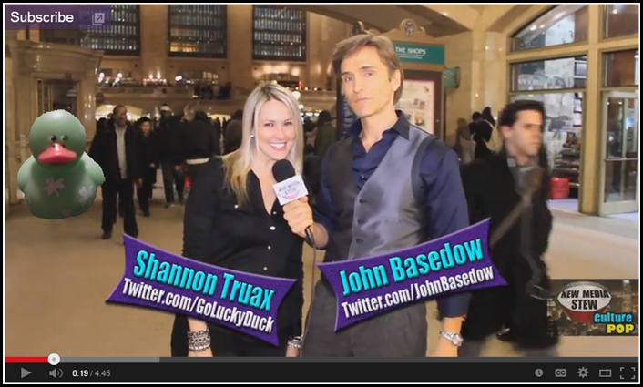 Shannon and John Report at Grand Central