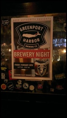 Greenport Brewery event at Beer Authority