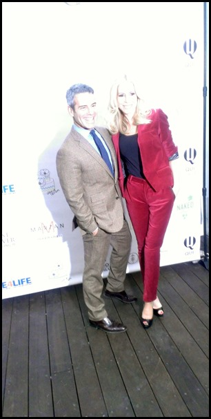 Aviva Drescher and Andy Cohen