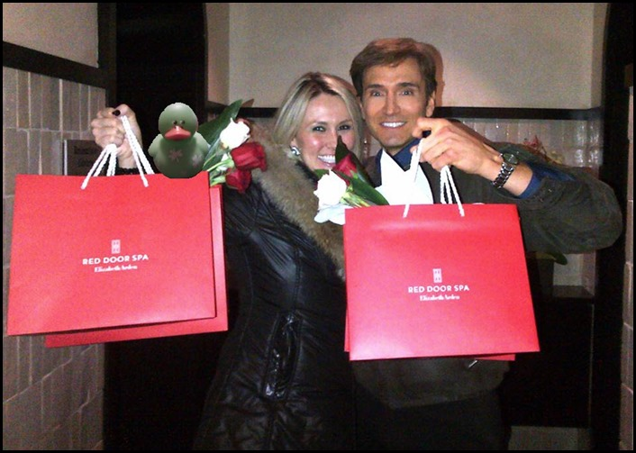 Shannon and John with gift bags