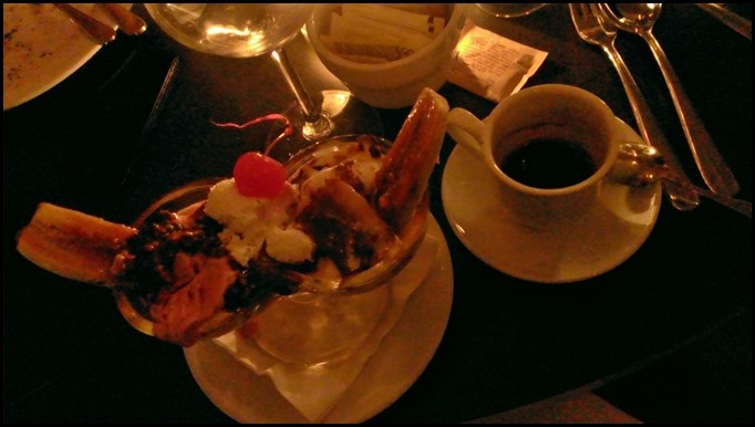 Banana Split at Empire Diner NYC