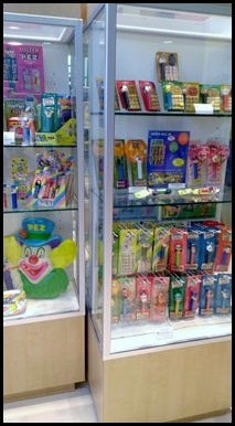 Cases at the PEZ Visitor Center