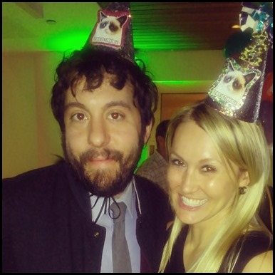 Shannon Truax and Jonathan Kite at Grumpy Cat's birthday party