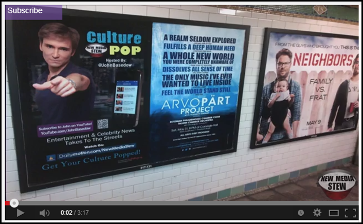 Culture Pop posters in the subways in NYC