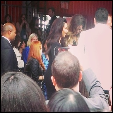 Kim and Khloe Kardashian at NBC Upfronts in NYC