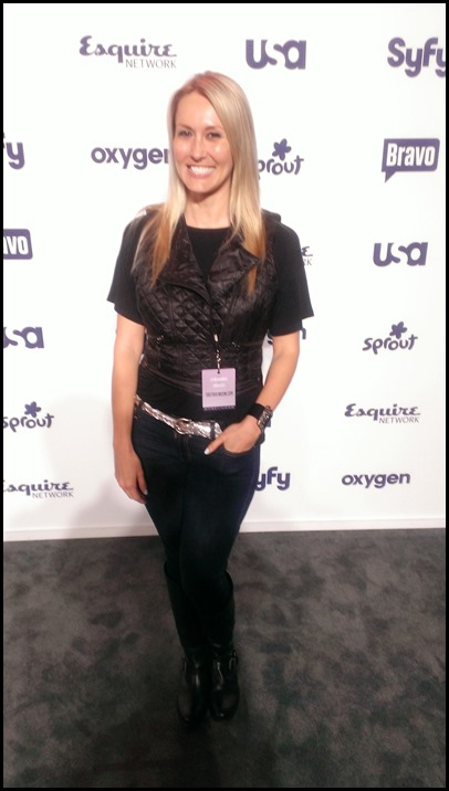 Shannon Truax at NBC Upfronts