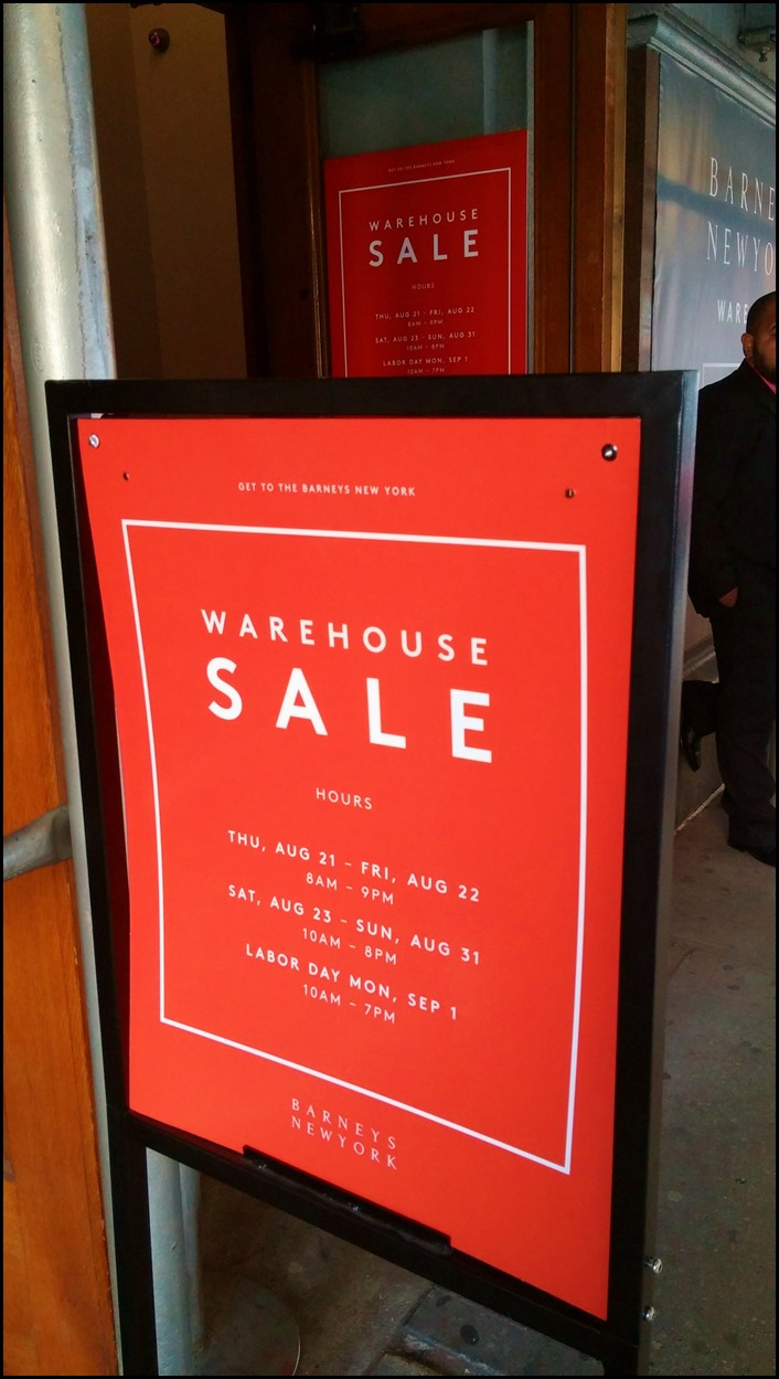 Barney's New York Warehouse Sale